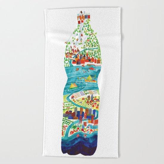 Water is life Beach Towel