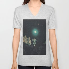 Searching for Happiness out of this Transitional World Unisex V-Neck