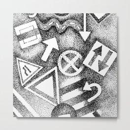 street signs Metal Print