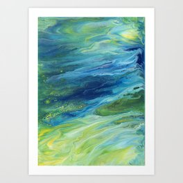 Abstract Moonlight Art Print