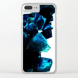 Chihuly Blue Crystal Sculpture Clear iPhone Case