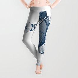 Fencer. Print for t-shirt. Vector engraving illustration. Leggings