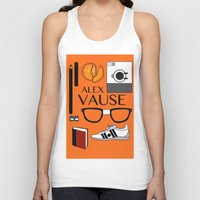 alex vause Tank Tops featuring Alex Vause Poster by Zharaoh