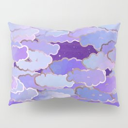 Japanese Clouds, Twilight, Violet and Deep Purple Pillow Sham