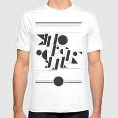 Typography Mens Fitted Tee MEDIUM White