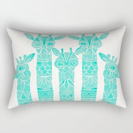 Giraffes – Turquoise Palette Rectangular Pillow