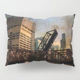 Chicago Skyline Chicago River Drawbridge Pillow Sham