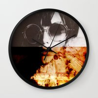 shining Wall Clocks featuring Shining by Lama BOO