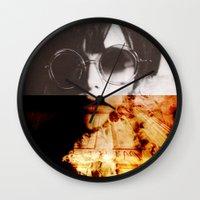 the shining Wall Clocks featuring Shining by Lama BOO
