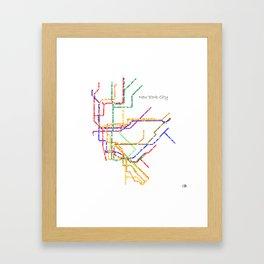 Nyc Subway Map Print.Subway Map Framed Art Prints Society6