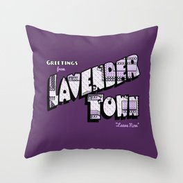 Greetings from Lavender Town Throw Pillow