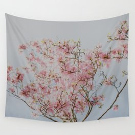 Pastel Pink Magnolias Wall Tapestry