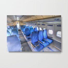 Tupolev TU-154 Russian Airliner Seating Metal Print