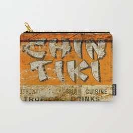 Chin Tiki Wall  Carry-All Pouch