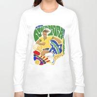 neymar Long Sleeve T-shirts featuring Neymar by Simon Estrada