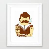 sailor Framed Art Prints featuring Sailor by Regina Rivas Bigordá