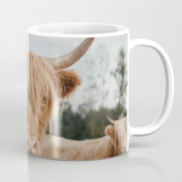 Highland Cow In The Country Coffee Mug