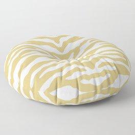 Zebra Wild Animal Print Gold Floor Pillow