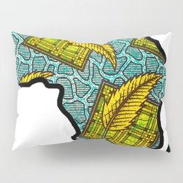 Green Blue Africa Map Pillow Sham