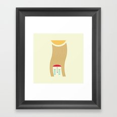 sun-rain Framed Art Print