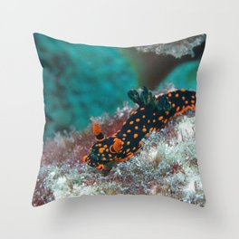Delightful Nudibranch Throw Pillow