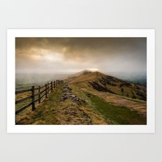 Path from Mam Tor Art Print