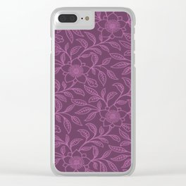 Bodacious Lace Floral Clear iPhone Case
