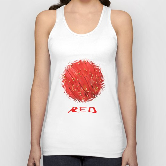 Red  &  Hairy Unisex Tank Top