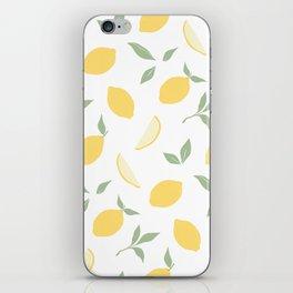 Fresh summer lemons. iPhone Skin
