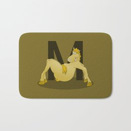 Pony Monogram Letter m Bath Mat