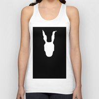 donnie darko Tank Tops featuring Minimal Cinema - Donnie Darko by Quellasenzanick
