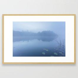 Ireland Lake Moonlit Fog Framed Art Print