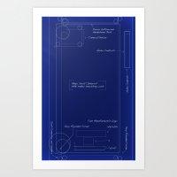 blueprint Art Prints featuring Blueprint by Grace Breyley