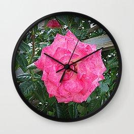 rosa rosa Wall Clock