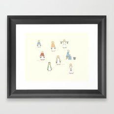 Eight Maids-a-Milking Framed Art Print