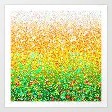 Color Dots Background G73 Art Print
