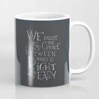 "dumbledore Mugs featuring Harry Potter - Albus Dumbledore quote ""We must all face the choice..."" by SimpleSerene"