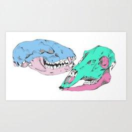 Skull me Art Print