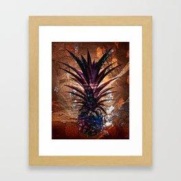 Copper Leaf Pineapple Art #buyart Framed Art Print