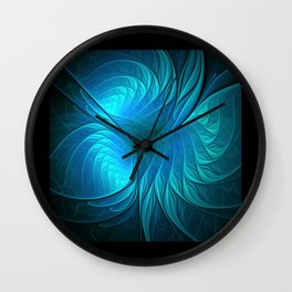 flames on black -5- Wall Clock