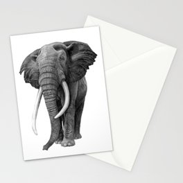 Bull elephant - Drawing in pencil Stationery Cards
