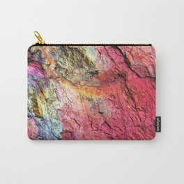 Colorful Nature : Texture Rainbow Magenta Carry-All Pouch