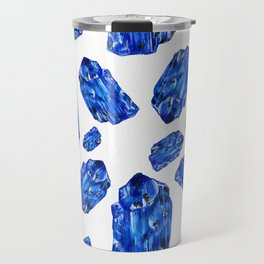 Tanzanite Birthstone Watercolor Illustration Travel Mug