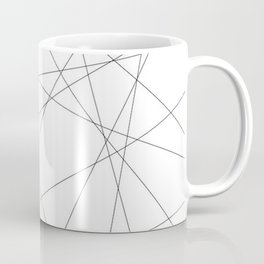 Geometric Black and White Lines | Line Art Coffee Mug