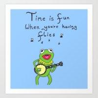 kermit Art Prints featuring Muppets Kermit by BlackBlizzard