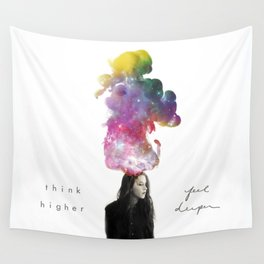 Think Higher Feel Deeper Wall Tapestry