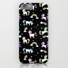 Unicorns and Rainbows - Black Slim Case iPhone 6s
