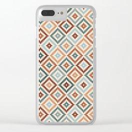 Aztec Block Symbol Ptn TCT Clear iPhone Case