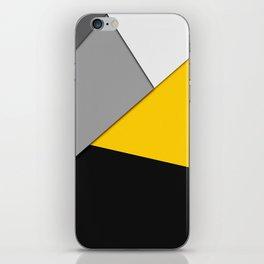 Simple Modern Gray Yellow and Black Geometric iPhone Skin