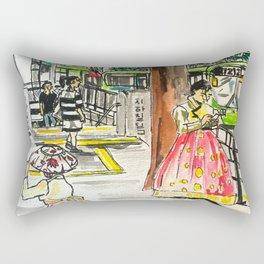 Day in Seoul Rectangular Pillow
